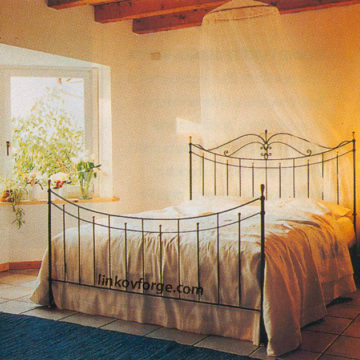 Wrought iron bed<br> 15