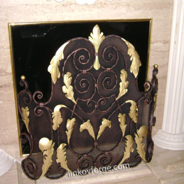 Wrought iron Grid for fireplace <br> 2