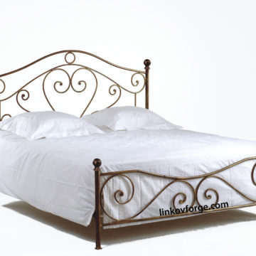 Wrought iron bed<br> 16