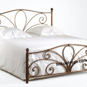 Wrought iron bed<br> 17