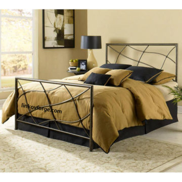 Wrought iron bed<br> 19