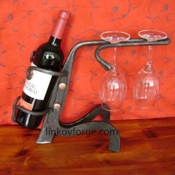Поставка за вино от ковано желязо<br>2