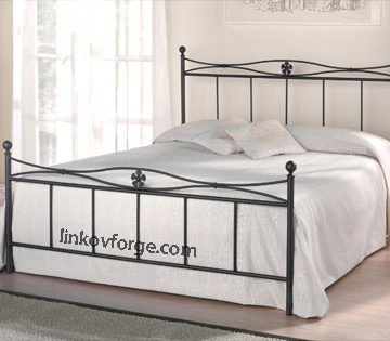 Wrought iron bed<br> 23