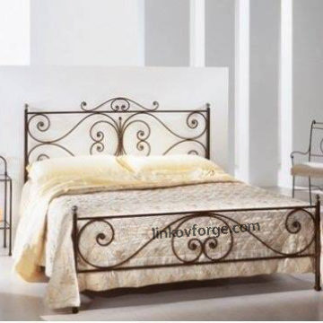 Wrought iron bed<br> 26