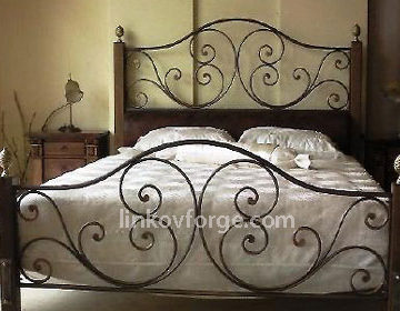 Wrought iron bed<br> 29