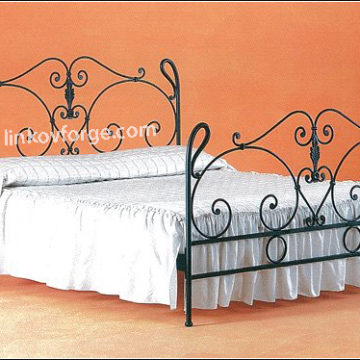 Wrought iron bed<br> 30