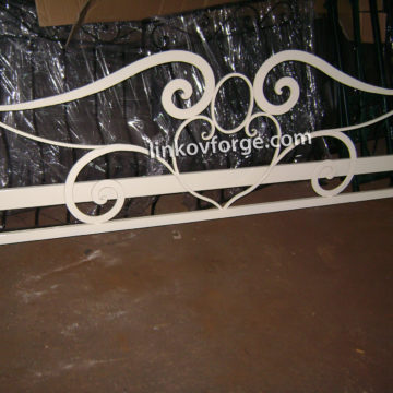Wrought iron bed<br> 6
