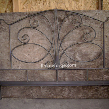 Wrought iron bed<br> 7