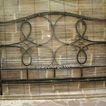 Wrought iron bed<br> 8