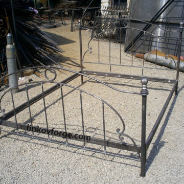 Wrought iron bed<br> 9