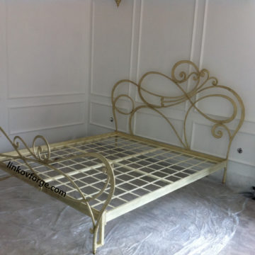 Wrought iron bed<br> 10