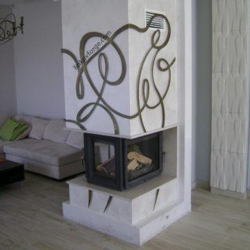 Декорация за камина от ковано желязо <br> 1