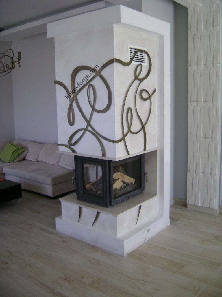 Wrought iron Fireplace accessories | Blacksmith Linkov