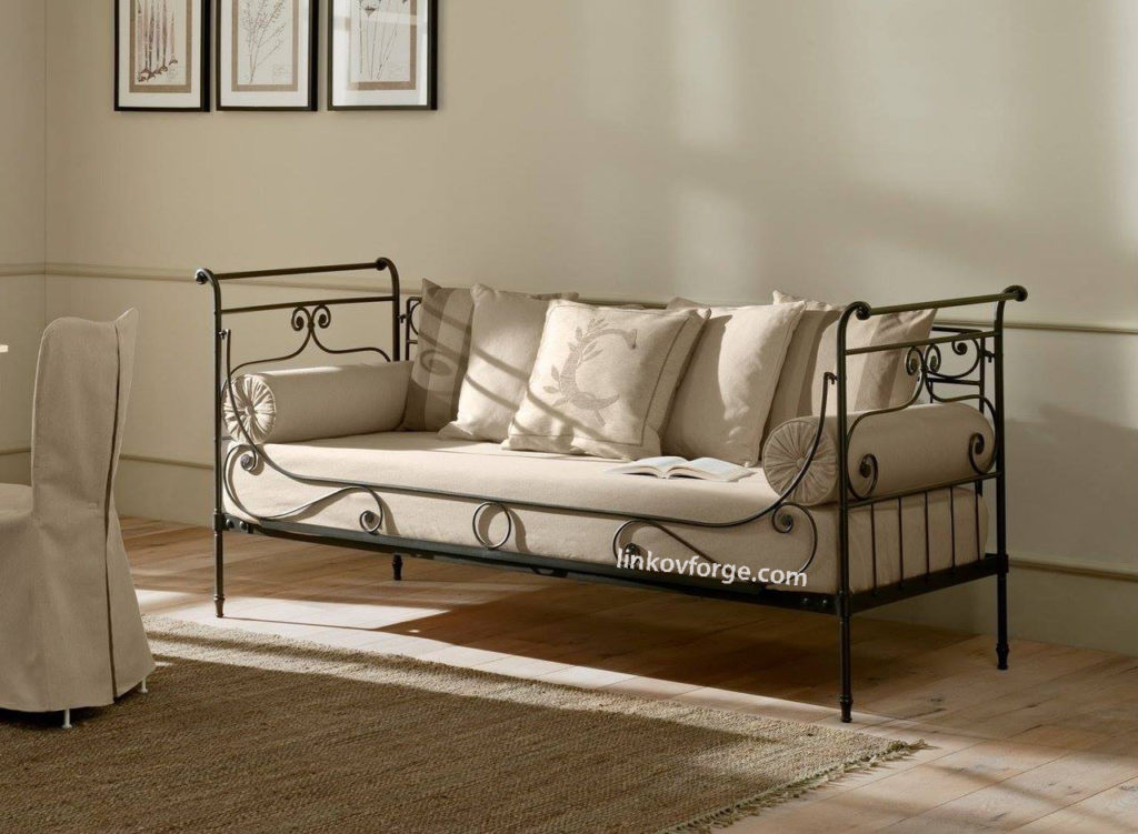 wrought iron sofas chairs iron double chair sofa wrought. Black Bedroom Furniture Sets. Home Design Ideas