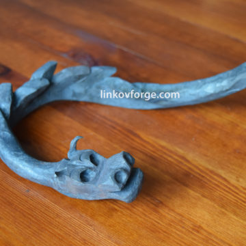 Wrought iron dragon