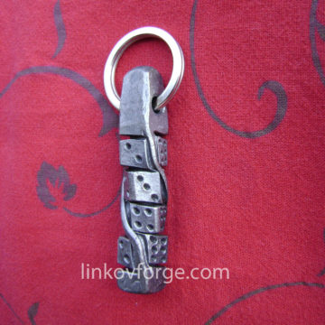 Wrought iron key ring<br> 1