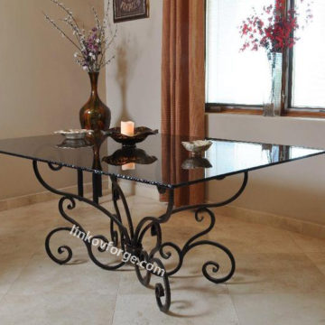 Wrought iron table<br> 19