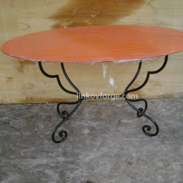 Wrought iron table<br> 5