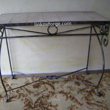 Wrought iron table<br> 6