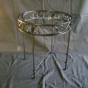Wrought iron table<br> 8