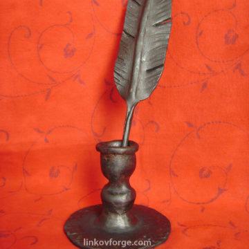 Wrought iron ink pot