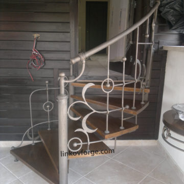 Wrought iron railing <br> 1