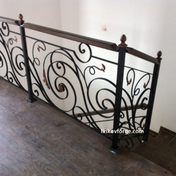 Wrought iron railing <br> 12
