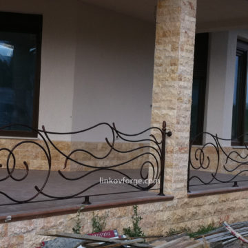 Wrought iron railing <br> 13