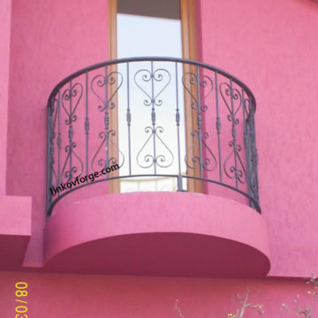Wrought iron railing <br> 16