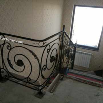 Wrought iron railing <br> 30