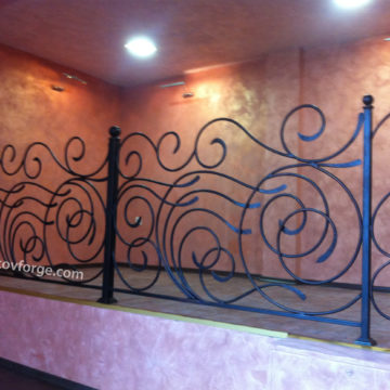 Wrought iron railing <br> 35