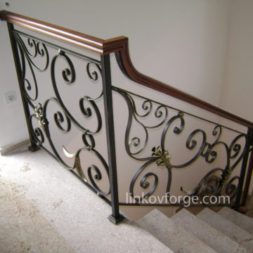 Wrought iron railing <br> 5
