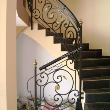 Wrought iron railing <br> 6