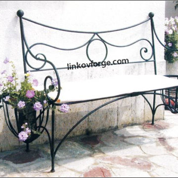 Wrought iron benche   <br>4