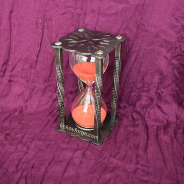 Wrought iron sandglass