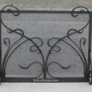 решетка за камина от ковано желязо 5