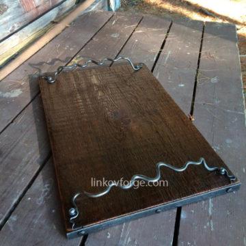 Wrought iron platter