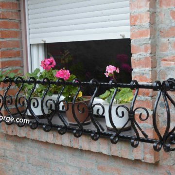 Wrought iron flower-stand <br> 17