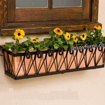 Wrought iron flower-stand <br> 9