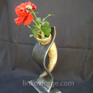 Wrought iron  vase <br> 1