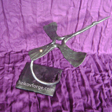 Wrought iron crane