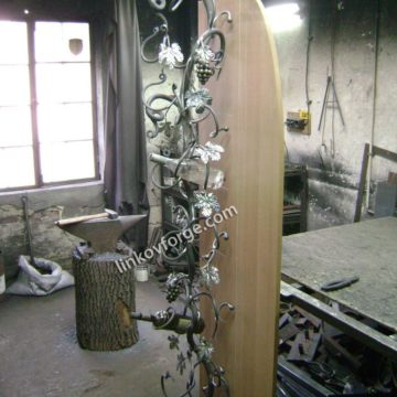 Wrought iron wine rack, step by step