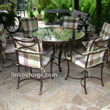 Wrought iron table and chairs   <br>3