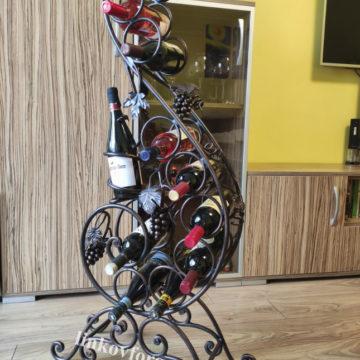 поставка за вино от ковано желязо 11