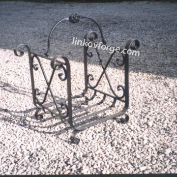 Дърварник за камина от ковано желязо <br> 1