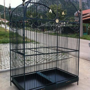 Клетка за птици от ковано желязо