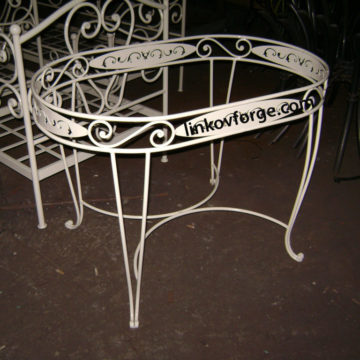 Wrought iron table and chairs  <br>2
