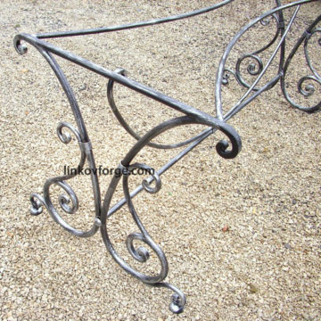 Wrought iron table <br>4