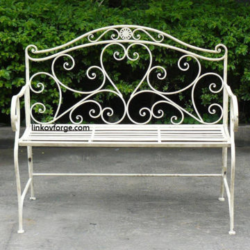 Wrought iron benche   <br>1