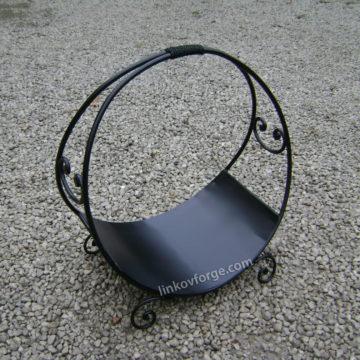 Дърварник за камина от ковано желязо <br> 2